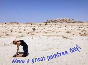 Have a great painfree day! Yoga in desert SAE